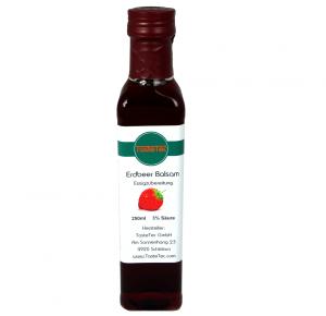 TasteTec Erdbeer Balsam Essig 3%, 250ml Glas-Flasche mit Ausgießer