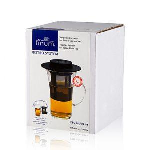 finum Bistro System mit Permanent Filter+Hut, 1 Glas + Filter + Teehut