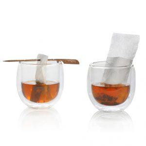Finum flip S weiß, 100 Teefilter bis 0,8L