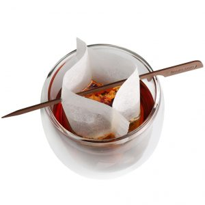 Finum Cup Size, weiß, 100 Teefilter+Stick